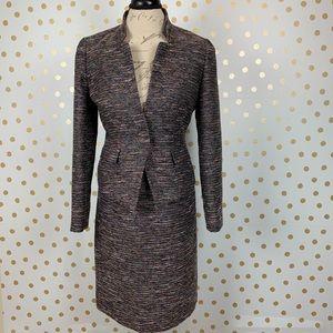 Tahari Multicolor Tweed Metallic Skirt Suit Set